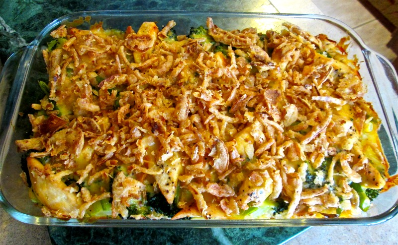 Foodista Recipes Cooking Tips And Food News Chicken Broccoli Casserole With French Fried