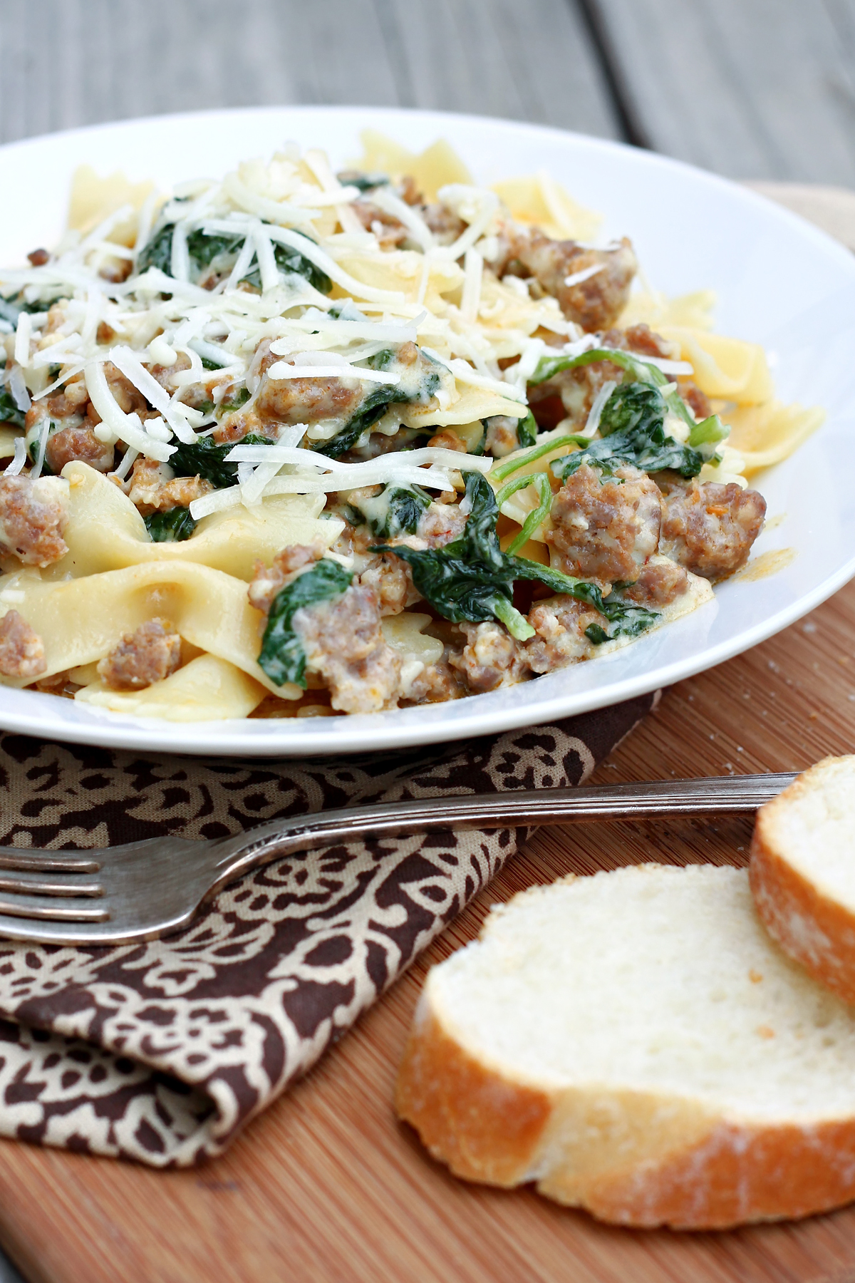 Pasta with sausage rapini recipe