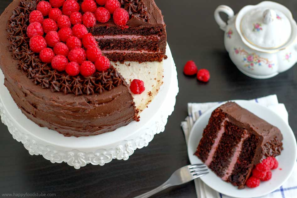Chocolate Raspberry Cake - Glorious Treats
