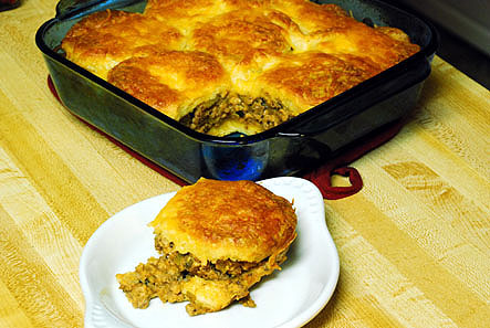 Foodista Recipes Cooking Tips And Food News Robert Reed S Beef And Biscuit Casserole