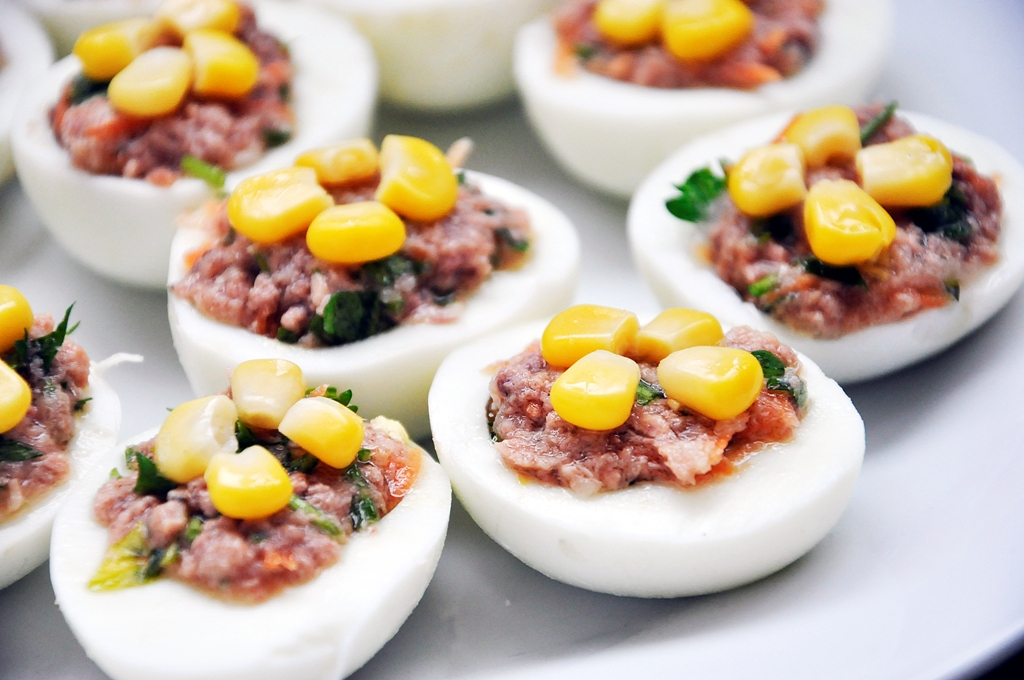 Foodista Recipes Cooking Tips And Food News Tuna Stuffed Hard Boiled Eggs