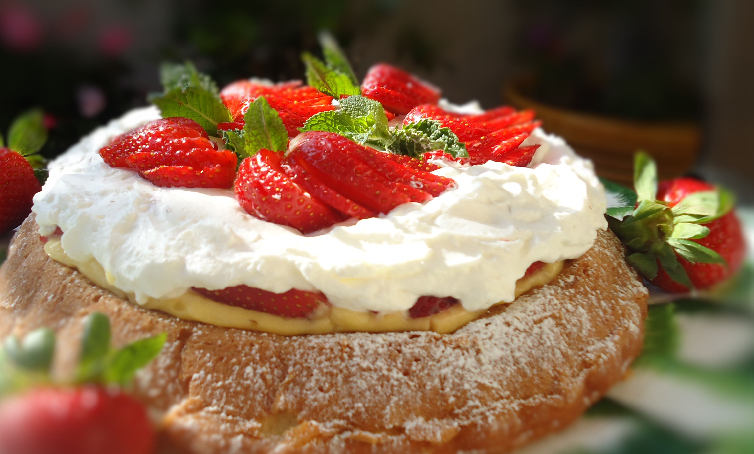 ... , and Food News | Strawberry Custard Mary Ann Cake with Whipped Cream