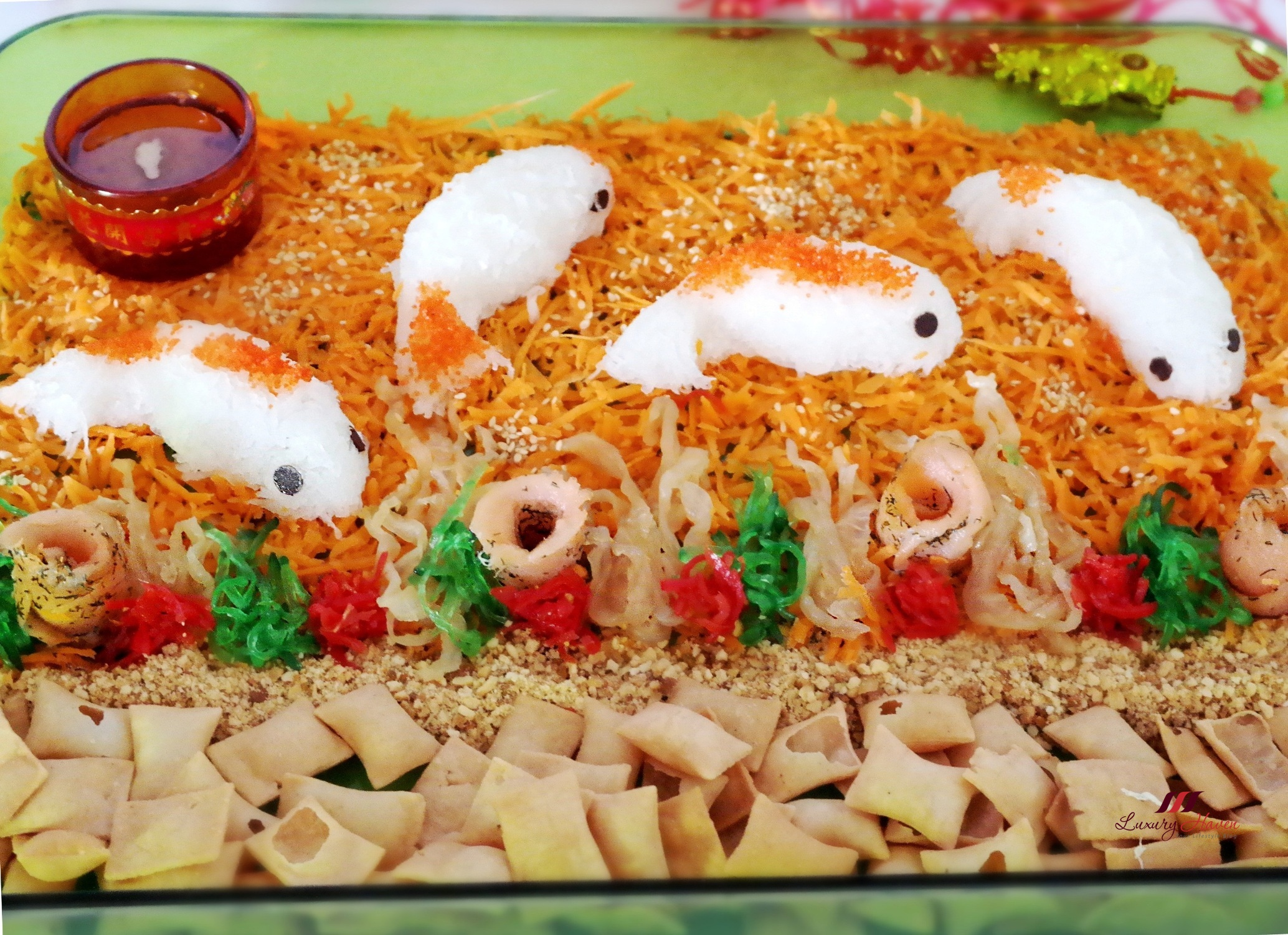 chinese new year salmon yu sheng with jellyfish print this recipe - Chinese New Year Food Recipes