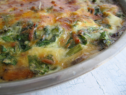... and Food News | Cheesy Frittata with Spinach, Asparagus and Mushrooms
