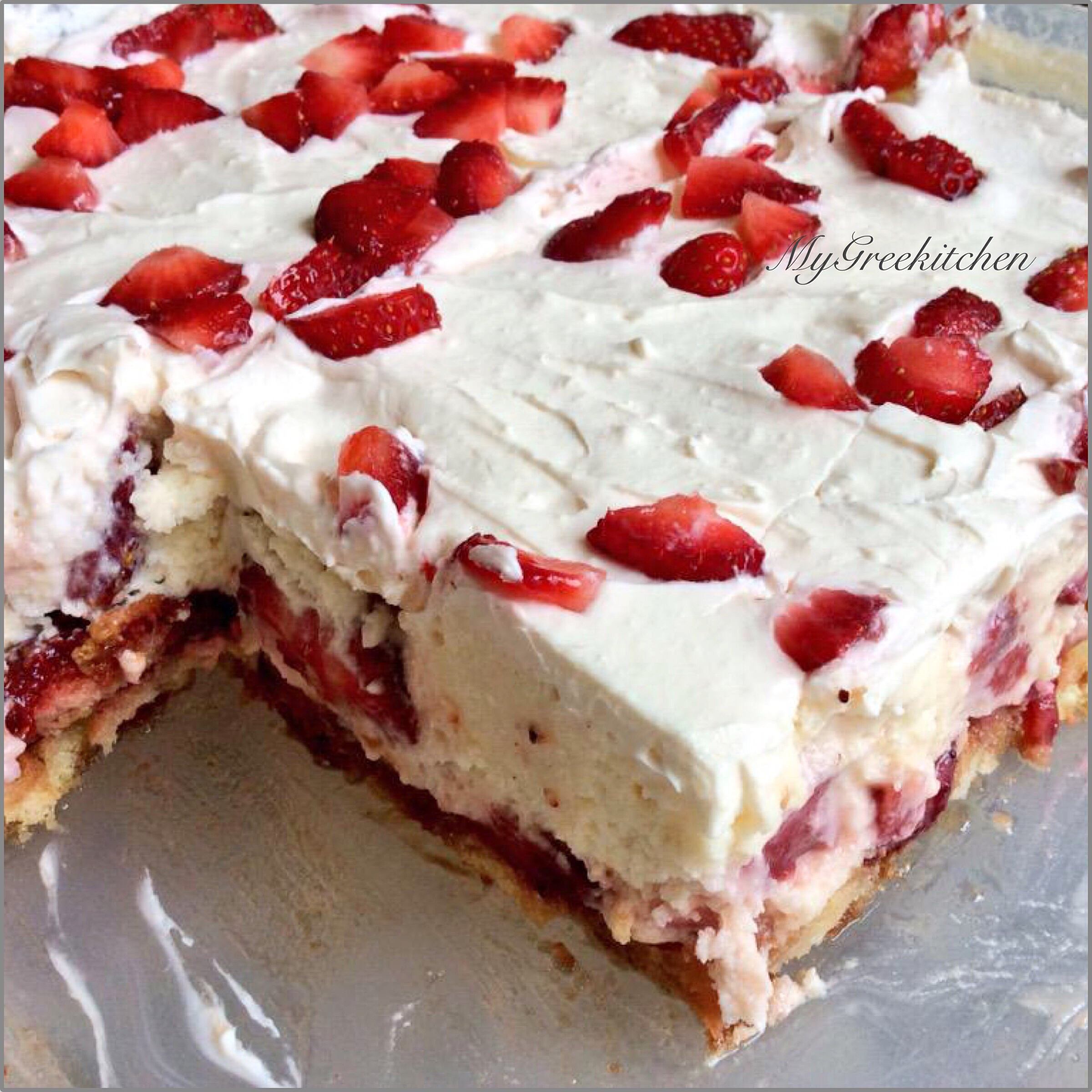 No Bake Strawberry Shortcake Print This Recipe