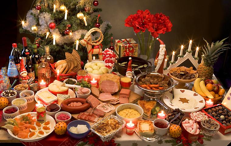 Christmas Ham Dinner.Traditional Swedish Christmas Ham