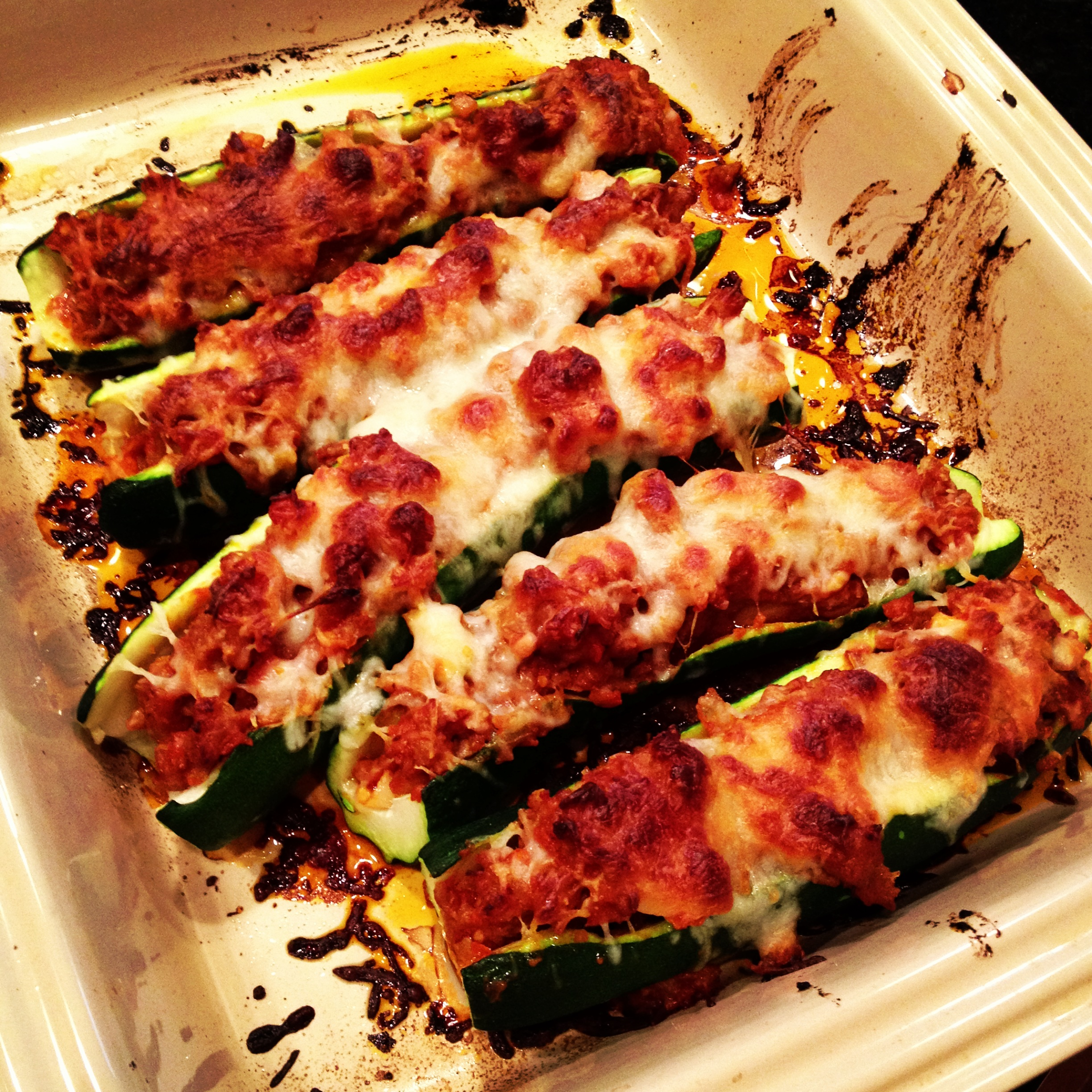 ... Recipes, Cooking Tips, and Food News | Sausage Stuffed Zucchini Boats