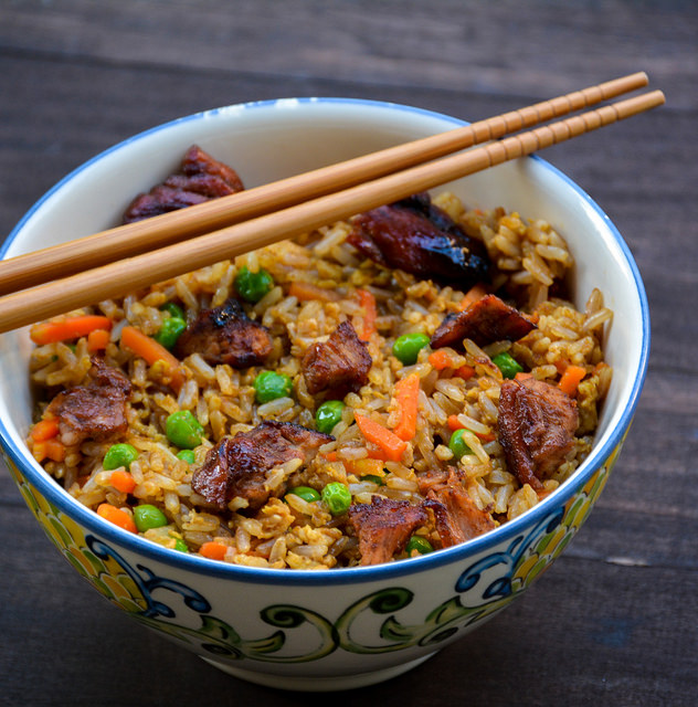 how to make homemade pork fried rice