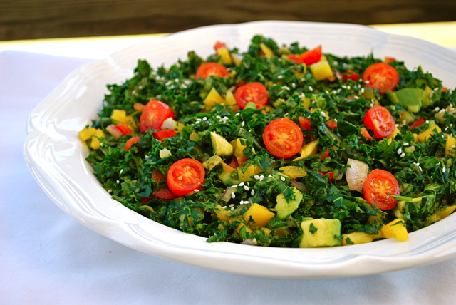 Foodista | Recipes, Cooking Tips, and Food News | Raw Kale Salad