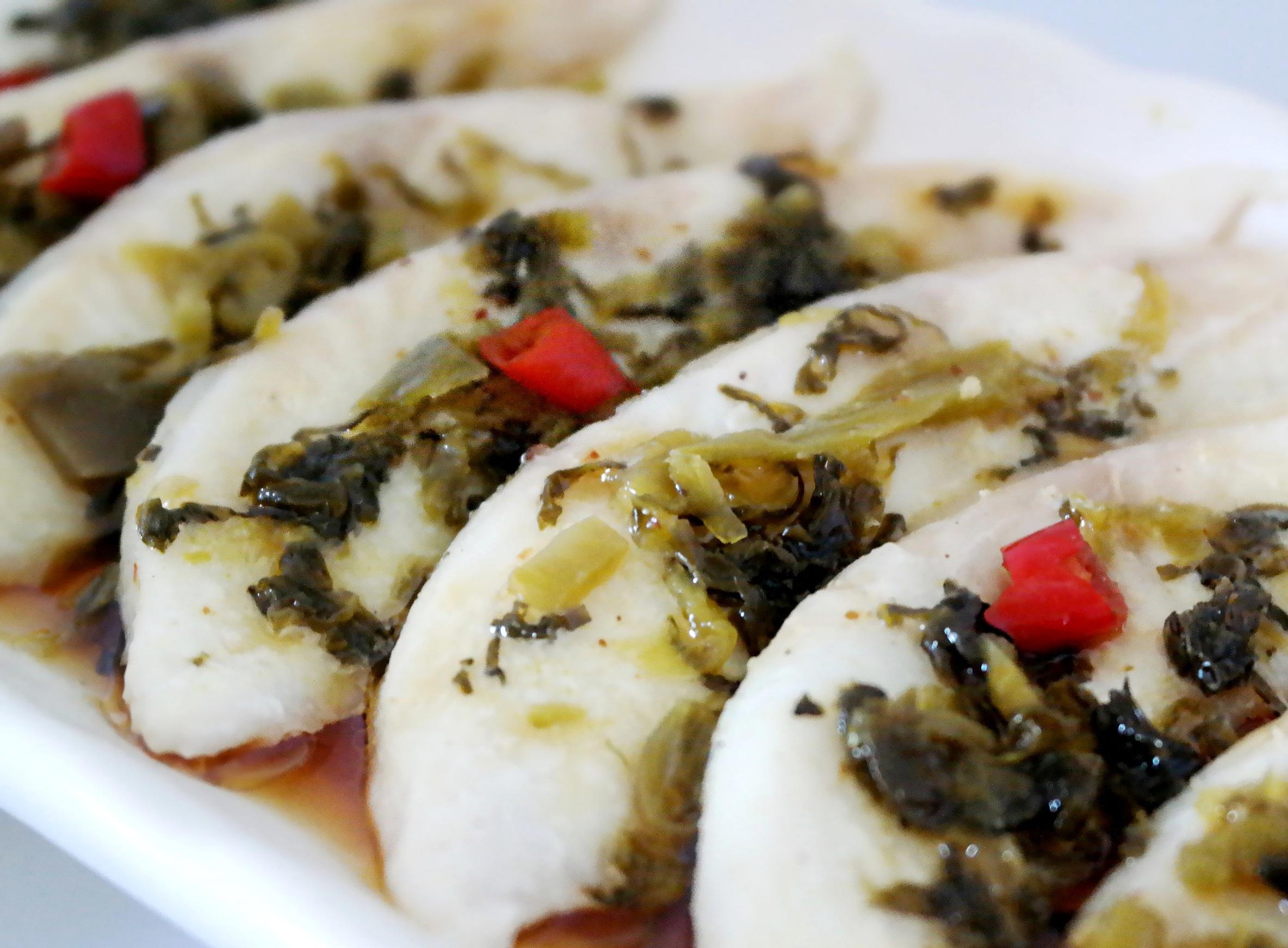 Foodista recipes cooking tips and food news yummy steamed yummy steamed toman fish fillet with japanese takana print this recipe forumfinder Image collections