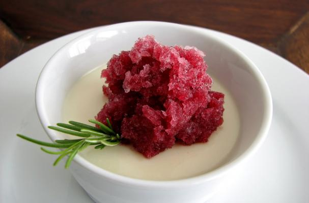 Image of Apothic Granita And Vanilla Panna Cotta, Foodista