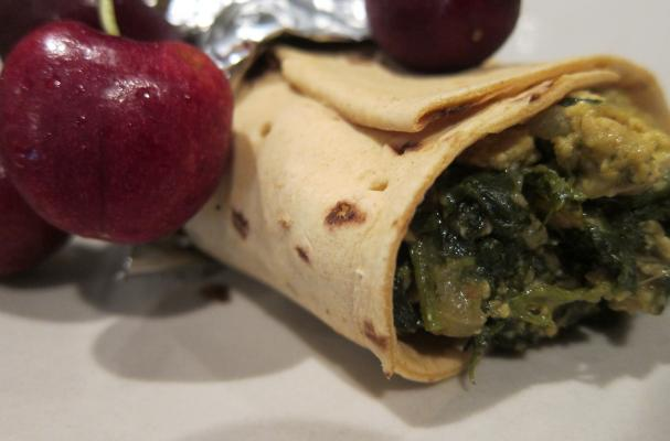 Image of A Fresh Start With Tofu Spinach Wrap, Foodista