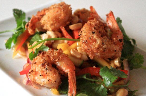 Image of Almond Crusted Shrimp And Mango Salad, Foodista