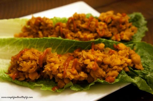 Image of Asian Chickpea Lettuce Wraps, Foodista