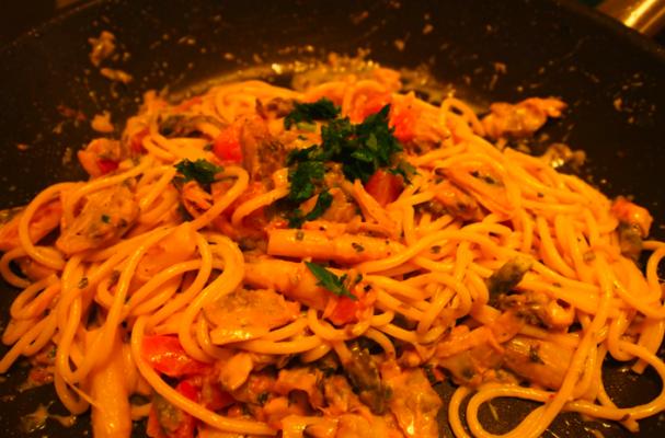 Image of Asparagus Clam Spaghetti, Foodista