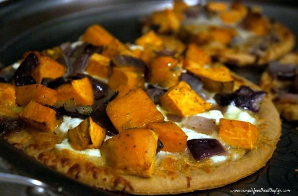 ... Wheat No-Yeast Pizza with Roasted Garlic, Sweet Potatoes, and Onions