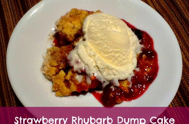 Rhubarb Dump Cake Recipe Strawberry Jello