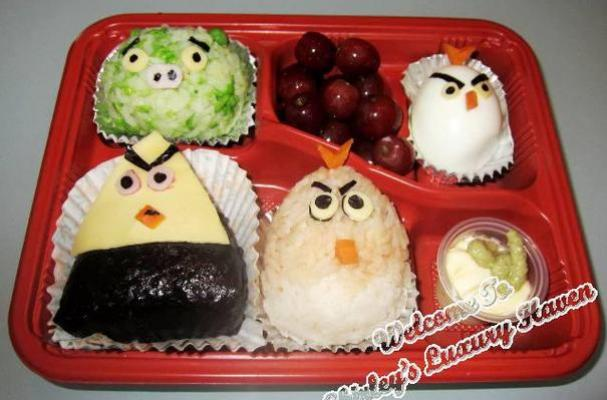 Image of Angry Birds Onigiri Bento Box (おにぎり), Foodista