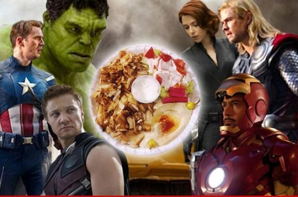 'Avengers' grab post-battle shawarma