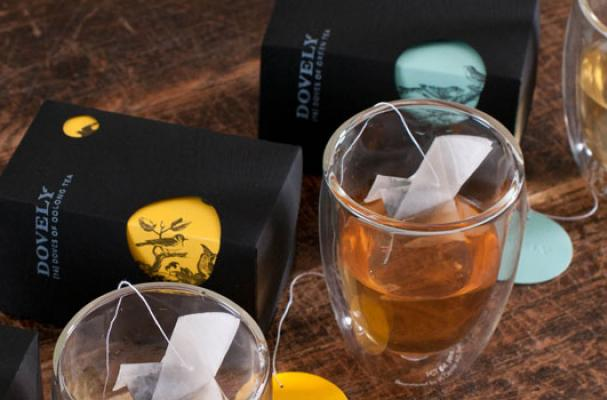 Dovely Tea Has Paired Up With YIU Studio To Create A New Look For Its Packaging Including Origami Bags In The Shape Of Birds