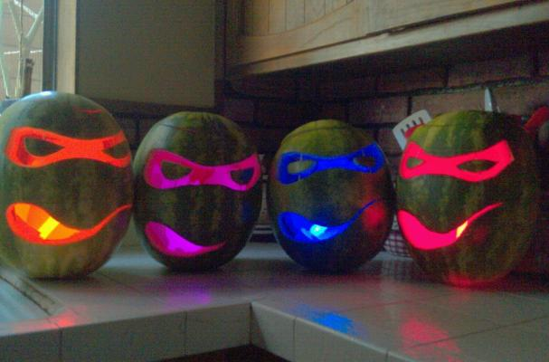 Ninja Turtle Watermelon-o-Lanterns