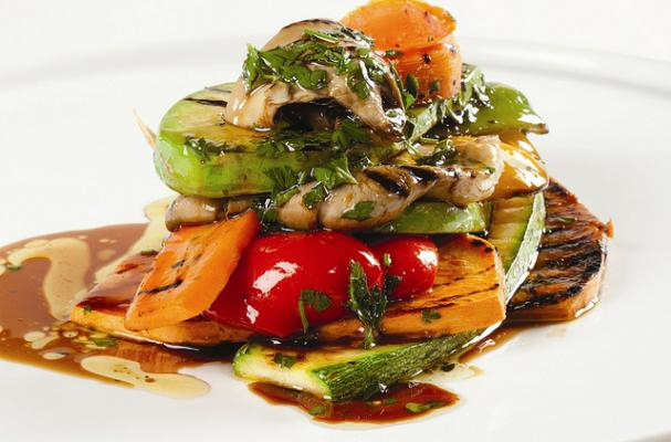 Foodista Perfect For Fall Grilled Vegetable Tower