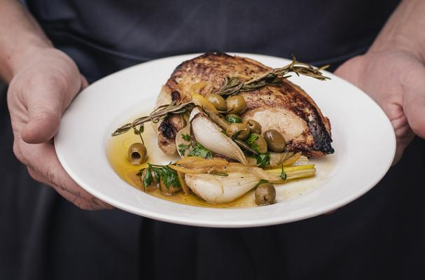 roasted chicken with preserved lemons and gordal olives