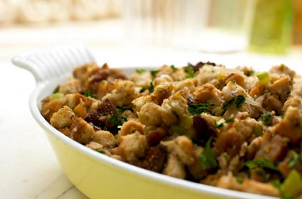 Foodista | Savory and Sweet Chestnut, Fig and Honey Stuffing