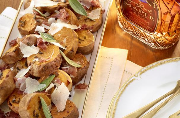 Whisky Roasted Sweet Potatoes with Sage