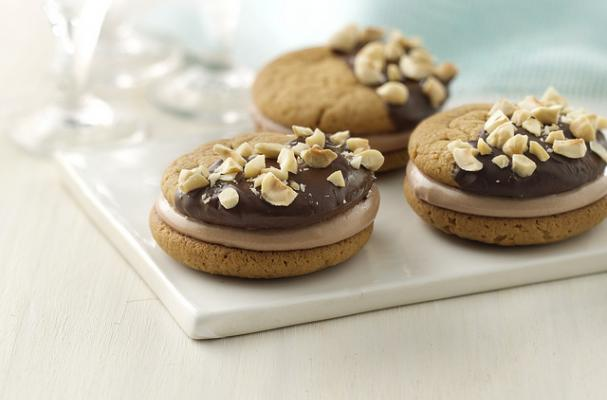 Chocolate Hazelnut Peanut Butter Sandwich Cookies