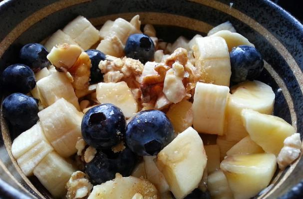 Flax, Oat and Fruit Power Breakfast Bowl