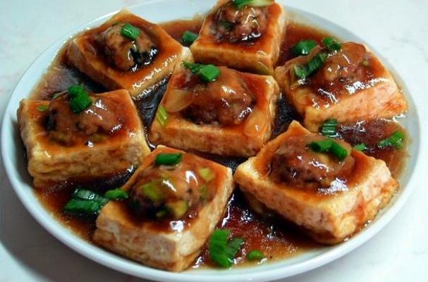 Foodista Chinese Style Pan Fried Stuffed Tofu With