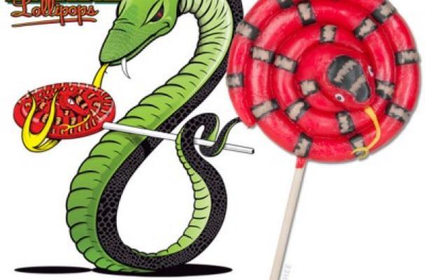 Snake Lollipops