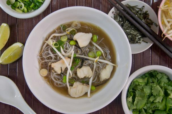 Miso, Fish and Rice Stick Noodle Soup