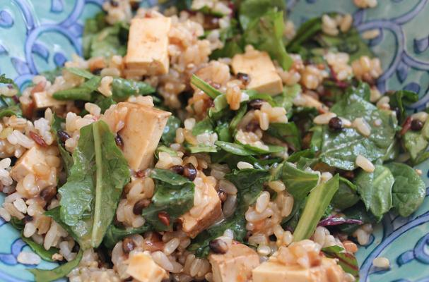 Easy Thai Style Rice Bowl with Greens