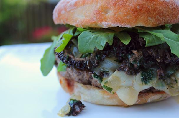 Seattle Morel Mushroom and Cheddar Cheeseburger