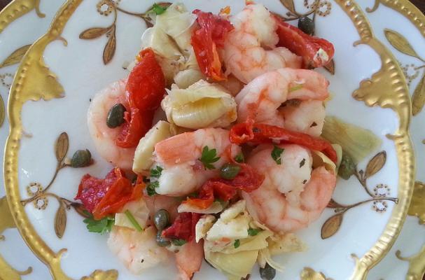 Easy Italian-Inspired Shrimp and Artichoke Salad