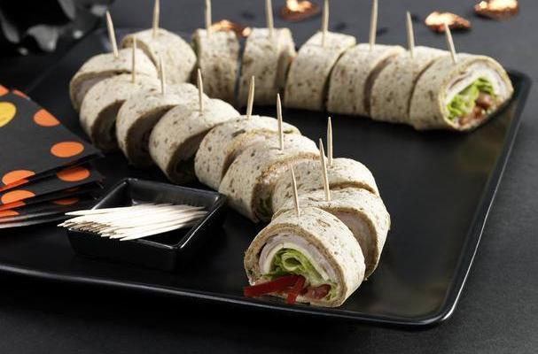 Foodista Halloween Sandwich Wraps Spooky Snake Bites