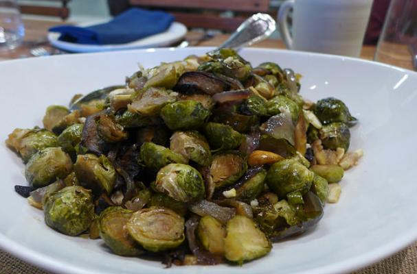 Roasted Brussels Sprouts with Crown Maple Chestnuts