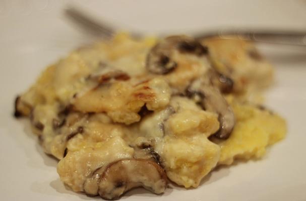 Polenta Pasticciata (Polenta with Cream Sauce and Mushrooms)