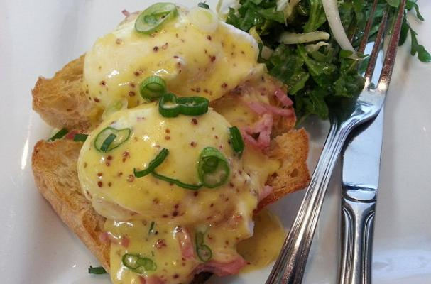 Eggs Benedict With Whole Grain Mustard Hollandaise