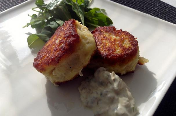Salt Cod and Potato Cakes with Tartar Sauce