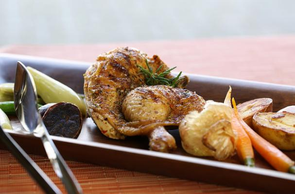 Meyer Lemon and Herb Grilled Cornish Game Hens