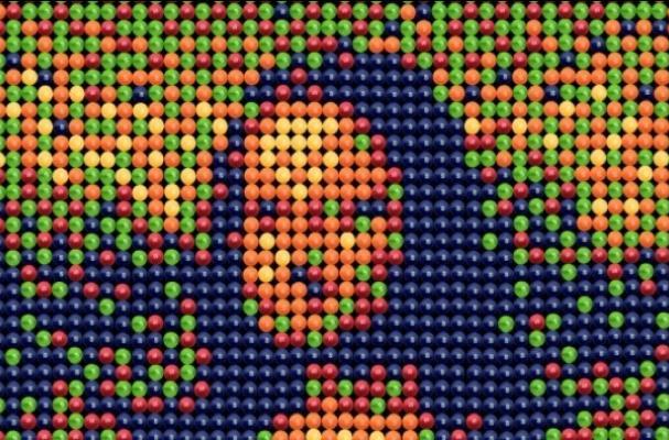 Skittles Pointillist Print Ad