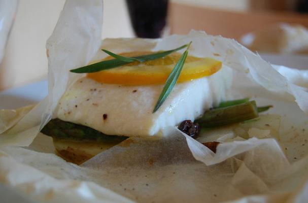 Honey Mustard Fish En Papillote