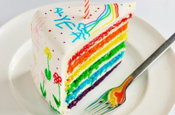 Foodista This Doodled Rainbow Birthday Cake Is Edible Art