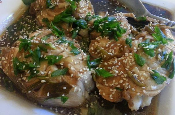 Ginger and Lemongrass Simmered Alaskan Black Cod