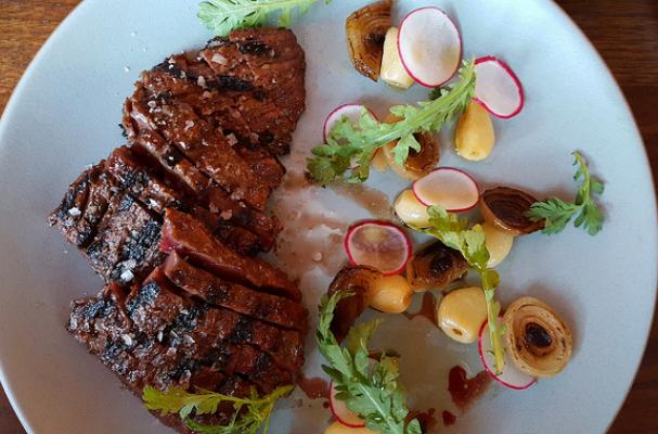 Grilled Skirt Steak with Spicy Ssamjang Sauce