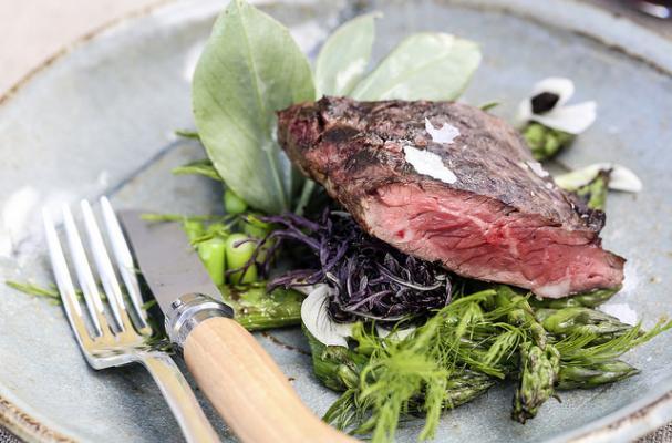Hanger Steak Salad with Asparagus