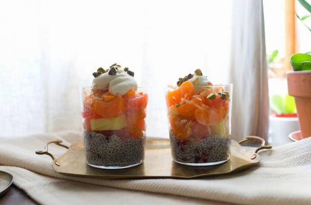 Mandarin Chia Pudding Parfait